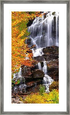 Vivid Falls Framed Print