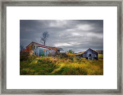 Vivid Farmhouse Memories Framed Print