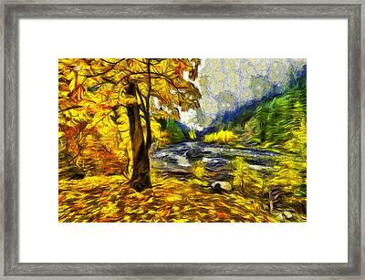 Vivid Pipeline Trail Framed Print by Mark Kiver