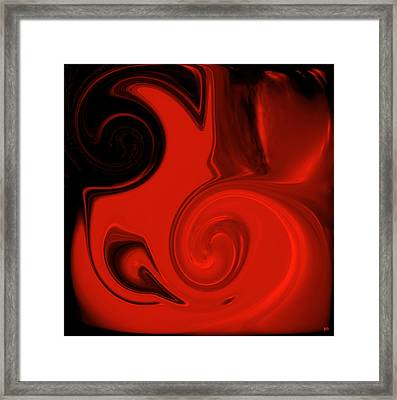 Vivid Red Vase    Pottery Collection Framed Print by Sherri's Of Palm Springs