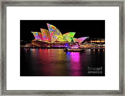 Vivid Sydney 2014 - Opera House 4 By Kaye Menner Framed Print by Kaye Menner