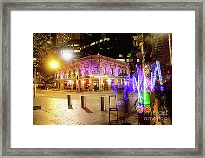Framed Print featuring the photograph Vivid Sydney Circular Quay By Kaye Menner by Kaye Menner