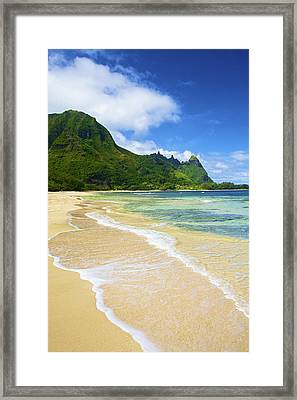 Vivid Tunnels Beach Framed Print