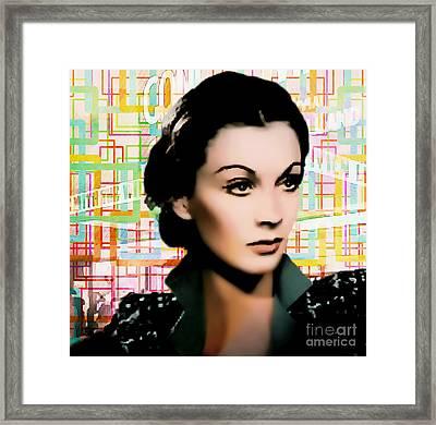 Vivien Leigh - Actress Pop Art Framed Print by Ian Gledhill