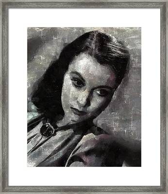 Vivien Leigh By Mary Bassett Framed Print by Mary Bassett