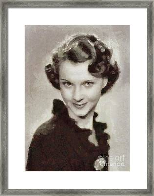 Vivien Leigh, Vintage Actress By Sarah Kirk Framed Print by Sarah Kirk