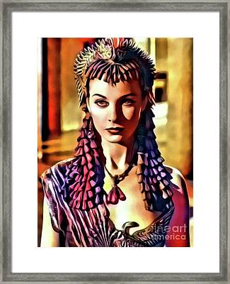 Vivien Leigh, Vintage Actress. Digital Art By Mary Bassett Framed Print by Mary Bassett