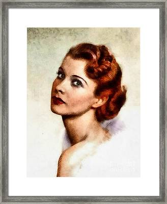 Vivien Leigh, Vintage Actress Framed Print by John Springfield