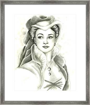 Vivien Framed Print by Scarlett Royal