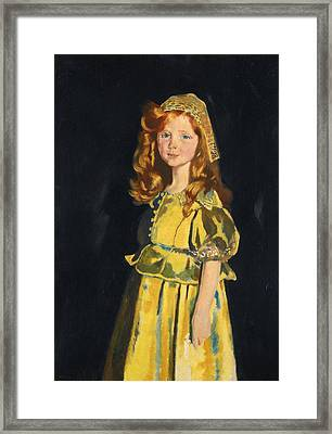 Vivien St George Framed Print by William Orpen