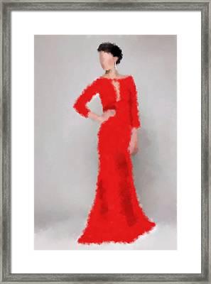 Framed Print featuring the digital art Vivienne by Nancy Levan
