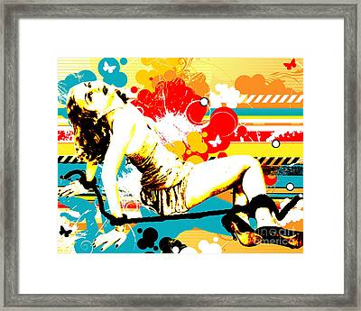 Vixen Subdued Framed Print by Chris Andruskiewicz