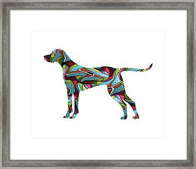 Vizsla Spirit Glass Framed Print