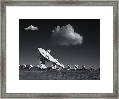 Framed Print featuring the photograph VLA by Carolyn Dalessandro