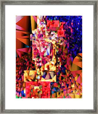 Vlad IIi The Impaler In Abstract Cubism 20170415 Framed Print by Wingsdomain Art and Photography