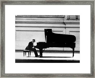 Framed Print featuring the photograph Vladimir Horowitz by Granger