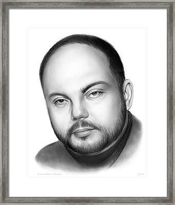 Vladimir Kara-murza  Framed Print by Greg Joens