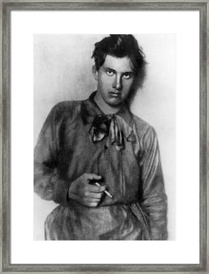 Vladimir Mayakovsky 1893-1930, Russian Framed Print
