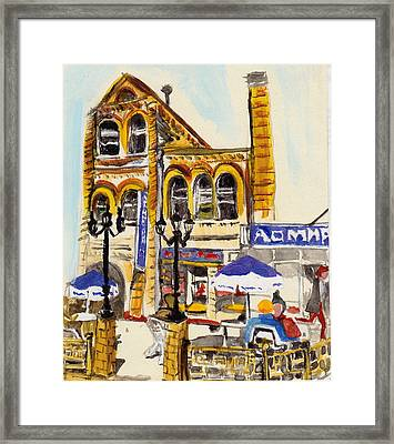 Framed Print featuring the painting Vladivostok Train Station by Julie Todd-Cundiff
