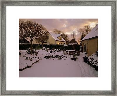 Vlierbeekberg Winter Framed Print by Michael Canning