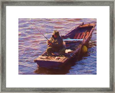 Vltava Fishing Framed Print by Shawn Wallwork