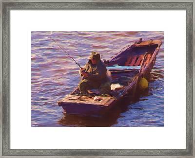 Vltava Fishing Framed Print by Shawn Wallwork