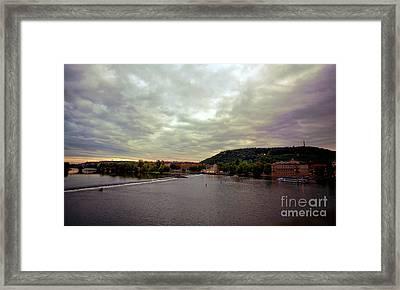 Vltava View 1 Framed Print