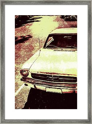 Vntage Ford Mustang Classic Car Framed Print by Jorgo Photography - Wall Art Gallery