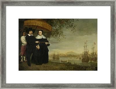 Voc Senior Merchant Framed Print by Aelbert Cuyp
