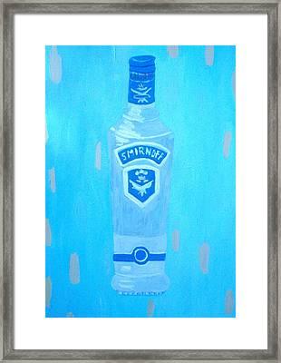 Vodka Framed Print by Patrice Tullai