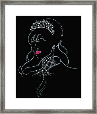 Vodka Princess Framed Print by Yvonne Ayoub