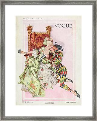 Vogue Cover Featuring An Eighteenth Century Framed Print by Frank X Leyendecker