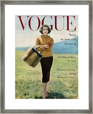 Vogue Magazine Cover Featuring Model Va Taylor Framed Print