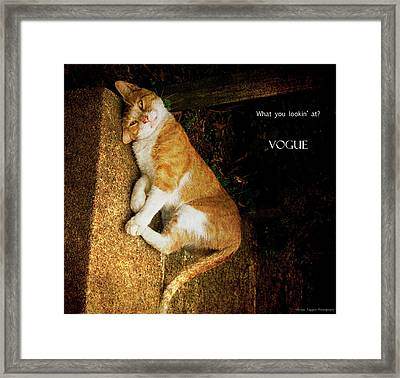 Vogue Framed Print by Michael Taggart II