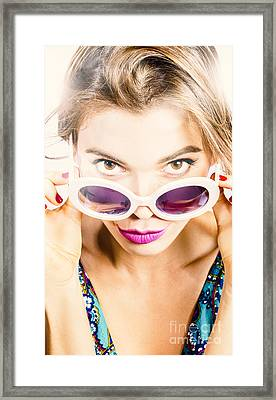 Vogue Pin Up Framed Print by Jorgo Photography - Wall Art Gallery