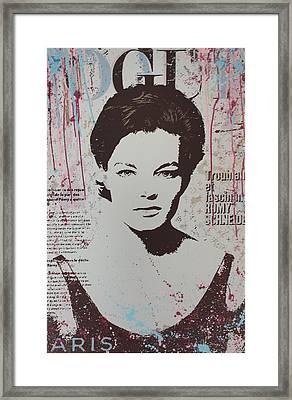 Vogue - Romy Framed Print