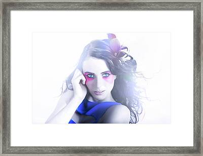 Vogue Style Woman With Beautiful Bright Makeup Framed Print by Jorgo Photography - Wall Art Gallery