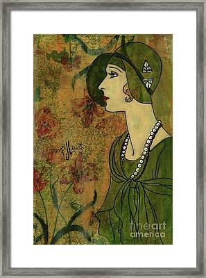 Vogue Twenties Framed Print by P J Lewis