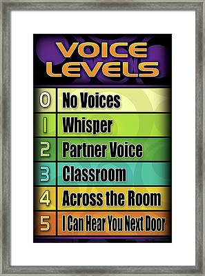 Voice Levels - 2 Framed Print