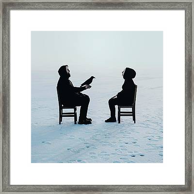 Voiceless Conversations Framed Print by Art of Invi