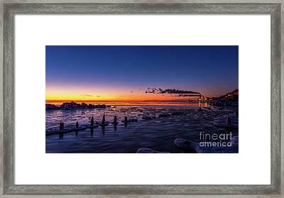 Voilet Morning Framed Print