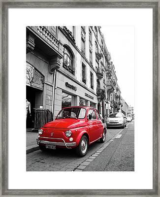 Voiture Rouge Framed Print