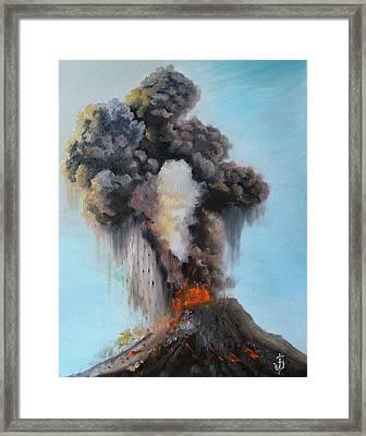 Volcan De Fuego Framed Print by Jose Velasquez