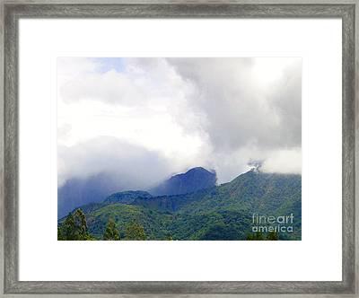 Volcan Panama Scene Framed Print by Al Bourassa