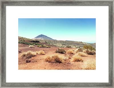 Volcan Teide Valley Framed Print