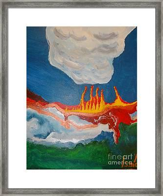 Volcanic Action Framed Print