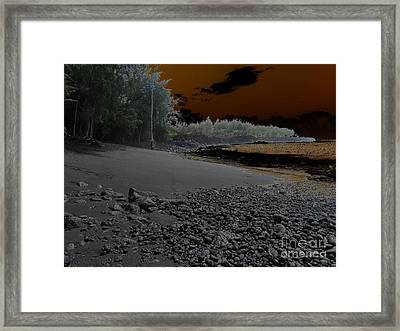 Volcanic Beach Framed Print
