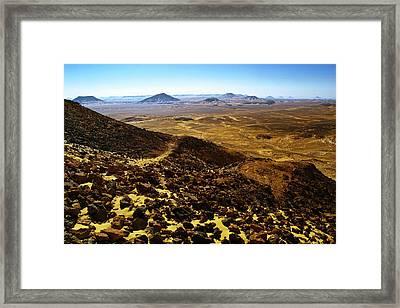 Volcanic Black Desert Framed Print by Vera Golovina
