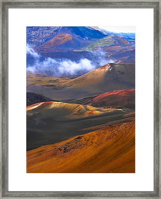 Framed Print featuring the photograph Volcanic Crater In Maui by Debbie Karnes
