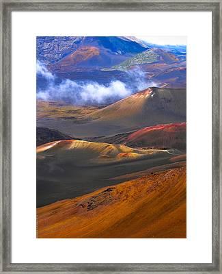 Volcanic Crater In Maui Framed Print by Debbie Karnes